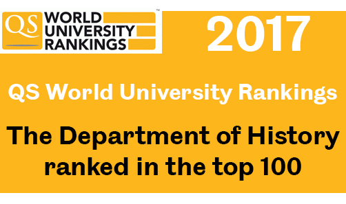 QS ranking 2016 - History top 100 banner.