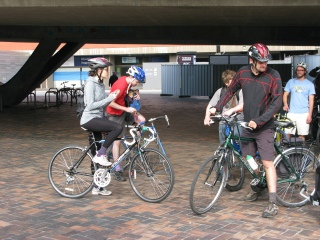 Cyclists on the University Concourse