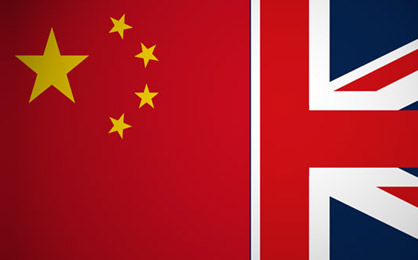China UK flag illustration