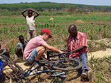 Mech Eng student working with farmers in Malawi