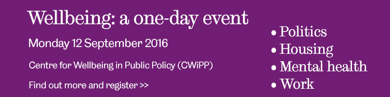 "Image with text ""Wellbeing: a one-day event Monday 12 September 2016"""