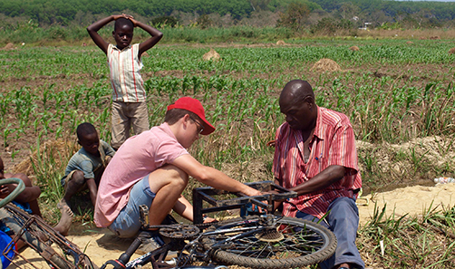 Mech Eng student helping farmers in Malawi
