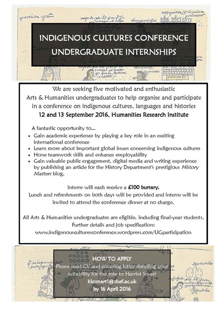 Indigenous Cultures Conference and Undergraduate Internships