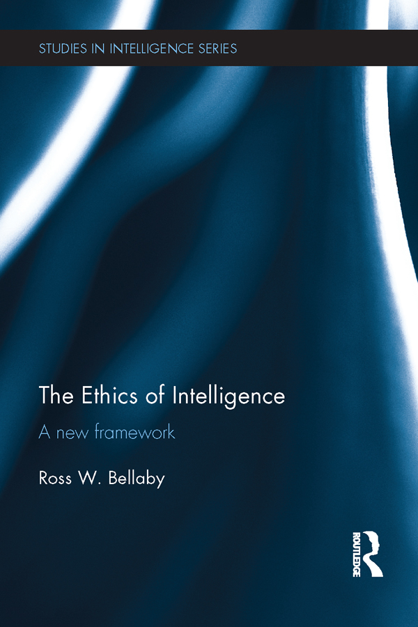 Book cover of the Ethics of Intelligence