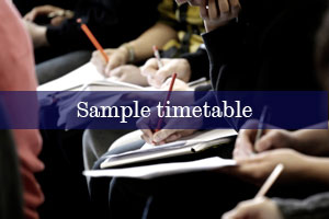 Sample timetable