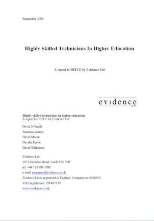 HEFCE 2004 report cover