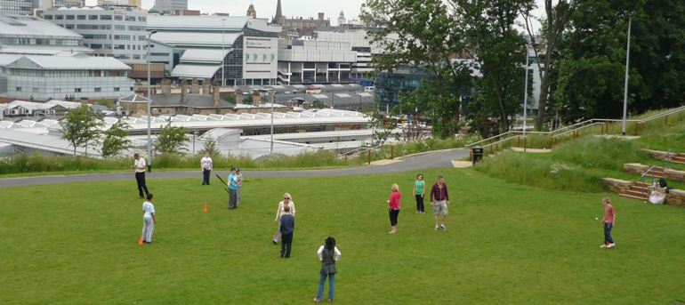 The project will promote green spaces as cost effective ways to boost health