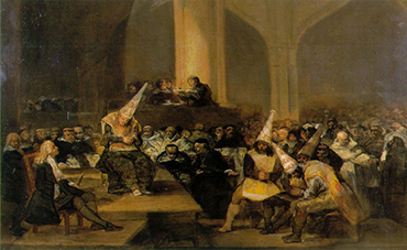 HST6055 Scene from an Inquisition by Goya