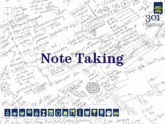 Note Taking Picture
