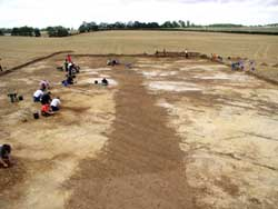 Late prehistoric enclosure ditch at Marr under excavation