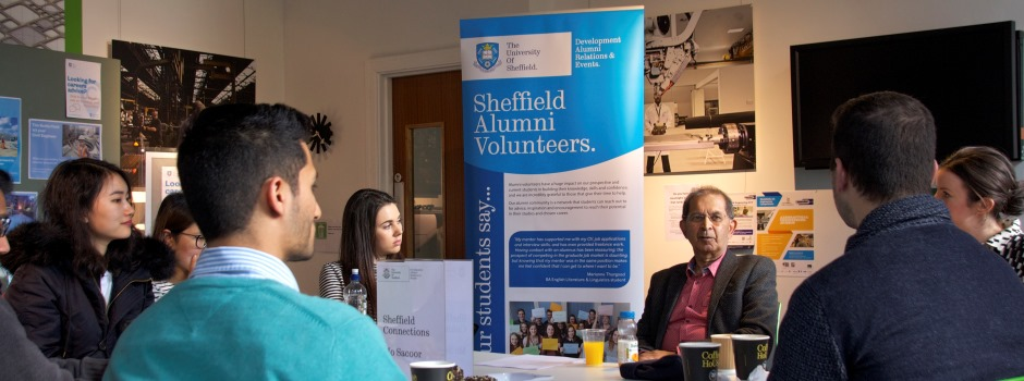 Sheffield Connections students with Mo Sacoor