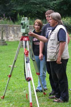 Introduction to a Total Station in Hickleton churchyard