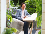 Alumna Hay Joung Hwang in her LG Smart Garden at the 2016 RHS Chelsea Flower Show