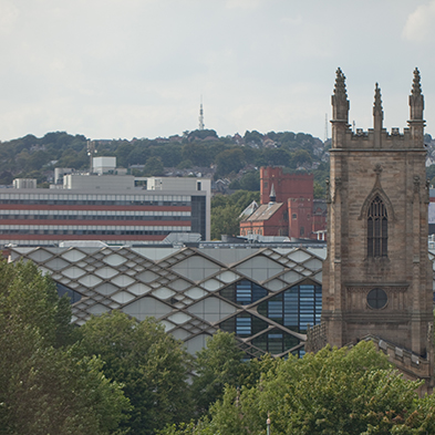 St George's Church and the Diamond building