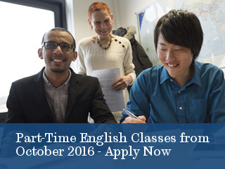 Part Time English Language Classes October 2016