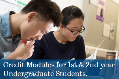 Credit Modules for 1st and 2nd Year Undergraduate Students