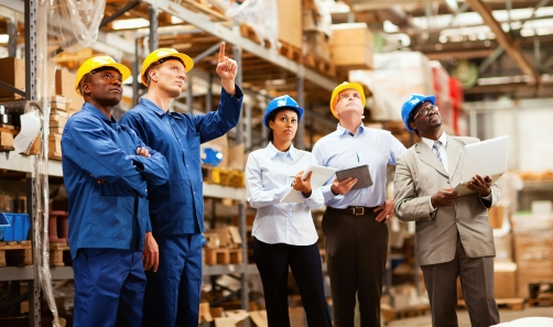 Photo of workers in a warehouse
