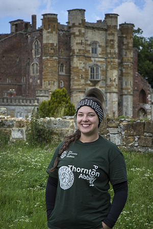A student at Thornton Abbey