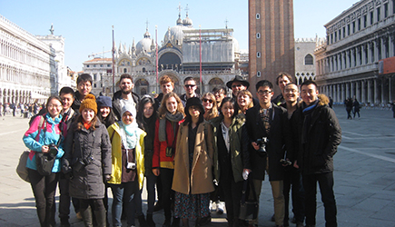 Studion In Residence students on field trip in Italy