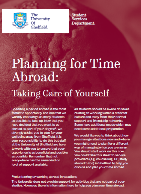 Planning for time abroad (2016 leaflet)