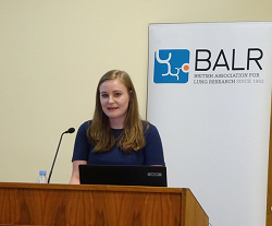 Grace Manley presenting at BALR