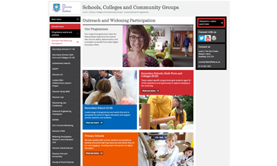 image of outreach website