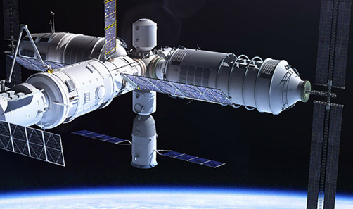 Tiangong 3 Space Station, scheduled for launch in 2020. Image: Adrian Mann, www.bisbos.com