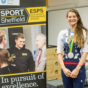 Bryony Page at Sport Sheffield
