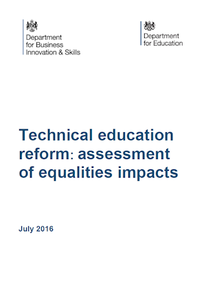 Technical Education reform report cover