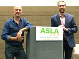 Nigel Dunnett with with Thomas Rainer at the American Society of Landscape Architects (ASLA)