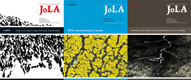 Covers of the Journal of Landscape Architect
