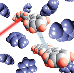 Ultrafast conformational change