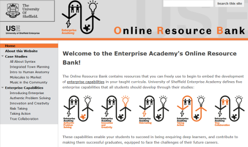 A screenshot of the homepage for the USEA Online Resource Bank (ORB)