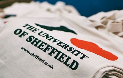 Love University of Sheffield bags