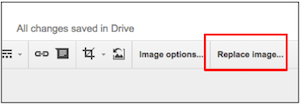Replace image Google Slides
