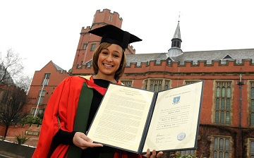 Jessica Ennis-Hill receiving an honorary degree in 2010