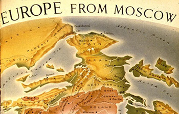 Map: Europe from Moscow