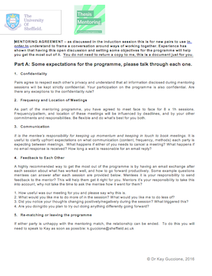 Dissertation agreement form