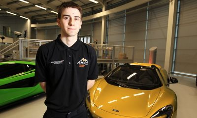 One of the first cohort of McLaren AMRC apprentices