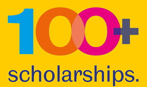 Image of the 100+ scholarships logo