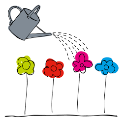 Watering can logo for Development Everywhere