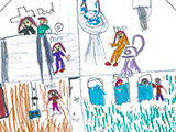 Child's drawing of hospital