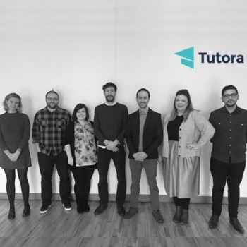 Scott (third from right) with the Tutora Team