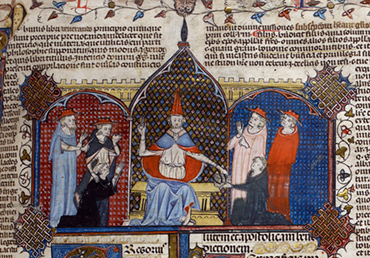 HST6067 Image - Gregory IX issuing the Decretals in 1234