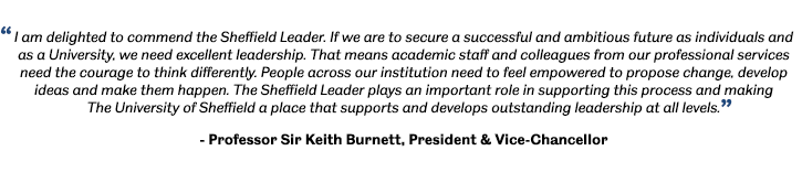 Quote from President and Vice-Chancellor Keith Burnett