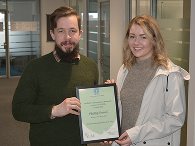 Photo of Dr Philip Powell and student Lauren Quinn