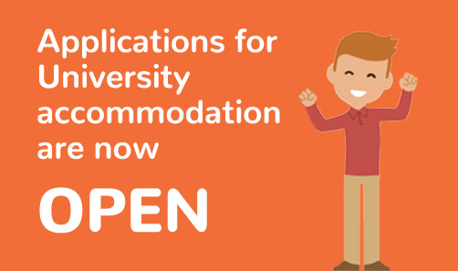 Applications for University accommodation now open 2017-18