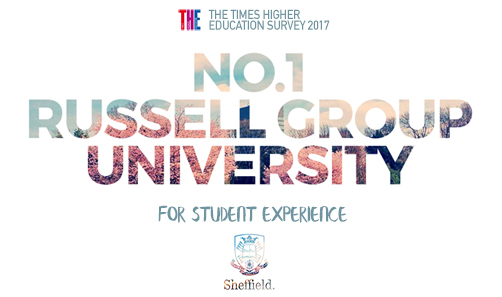 Voted No. 1 Russell Group University for student experience