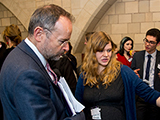 Florence presents her work to Sheffield Labour MP Paul Blomfield