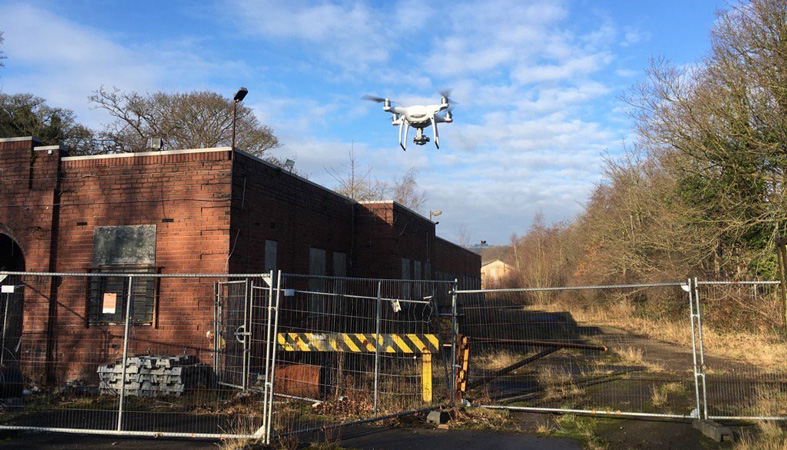 Landscape students have been using a drone to take aerial photography